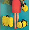 Knitted Doll Luggage Pattern, Vintage 1960s
