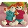 Knitted Dolls Pattern Boy and Girls