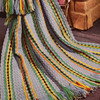 Striped Crochet Afghan Pattern in Shell Stitch