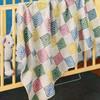 Pastel Block Baby Blanket Crochet Pattern