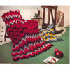 Colorful Strips Crochet Wave Afghan Pattern