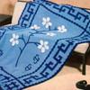 Oriental Flower Crocheted Afghan Pattern