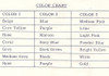 Color Chart for Loop Stitch Crochet Afghan