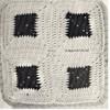 Crochet Afghan Square Pattern, Vintage 1960s