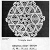 Crochet Flower Triangle Doily Crochet Pattern