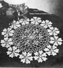 Crochet Flower Doily Pattern, Forget Me Not Motif