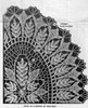 Large Oval Fern Doily Pattern Illustration, Design 793