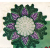 Crocheted Grape Doily Pattern, Vintage 1960s