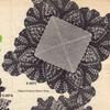 Small square grape crocheted mat pattern