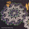 Large Crocheted Violets Doily Pattern