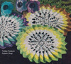 Colorful Sunburst Crochet Doilies Pattern