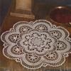 Crochet Cluny Doily Pattern, Vintage 1940s