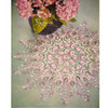 Elegant Rose Ruffled Crochet Doily Pattern
