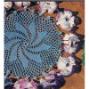 Crochet Pinwheel Doily pattern with Petunia Border