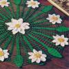 Three Color Crochet Daisy Doily Pattern
