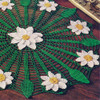 Three Color Crochet Daisy Doily Pattern