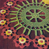 Colorful Cartwheel Flower Doily Pattern