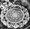 Crochet Doily Pattern Pansy Border