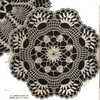 Crochet Shell Doily Pattern, Vintage 1960s