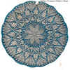 Large Flower Crochet Doily Pattern in Cluster Stitch