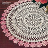 Pink Bordered Crochet Flower Doily pattern