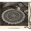 Crocheted Picot Doily Pattern, Vintage 1950s