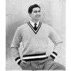 Mans Knit Pullover Pattern with Color Bands