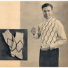 Argyle Knitted Mans Sweater Pattern