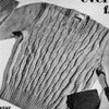 Mans Cable Pullover Vintage knitting pattern