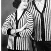 Vintage Striped Knitted Cardigan Patterns