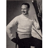 Mens Knitted Turtleneck Sweater Pattern, Vintage 1940s