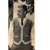 Mans Vintage Tweed Vest Pattern with Contrast Trim