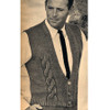 Vintage Knitting Patterns Mans Cable Vest Pattern