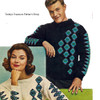 Mans Knitted Patterned Ski Sweater