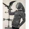 Vintage Knitted Dot Pullover with Head Scarf Pattern