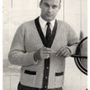 Mans Two Tone Knitted Cardigan Pattern