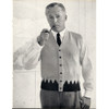 Mans Two Tone Knitted Vest Pattern from Columbia Minerva