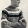 Striped Pullover Knitting Pattern for Men