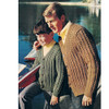 Father Son Knitted Rib Cardigan Patterns
