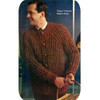 Knitting Pattern, Mans Ribbed Cardigan