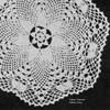 Vintage Pineapple Flower Crochet Doily Pattern