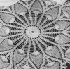 Large Wheel Crocheted Doily pattern, Vintage 1940s