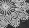 Double Pineapple Crochet Border on Wheel Doily pattern