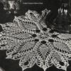 Vintage 1940s Crochet Pineapple Doily Pattern