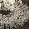 Ruffled Crocheted Doily Pattern Vintage 1940s