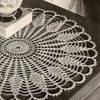 Large Sundial Crocheted Doily Pattern in Pineapple Stitch