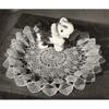 Fluted Border Flower Doily Crochet Pattern