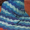 Blue Rippled Afghan Knitting Pattern