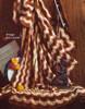 Vintage Fan Feathers Crochet Throw Pattern