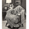 Easy Vintage Chevron Strip Afghan Knitting Pattern